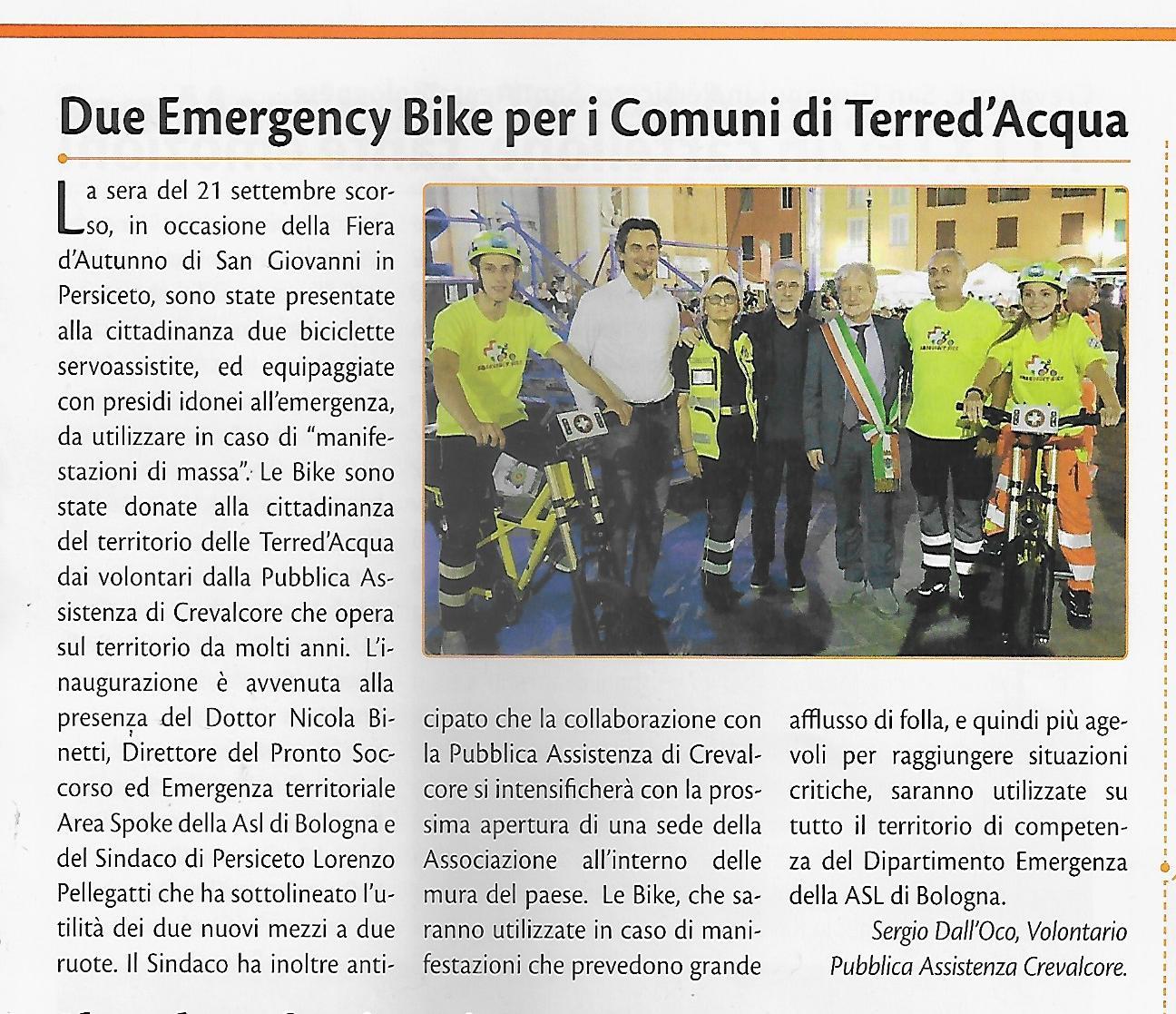 Emergency bike